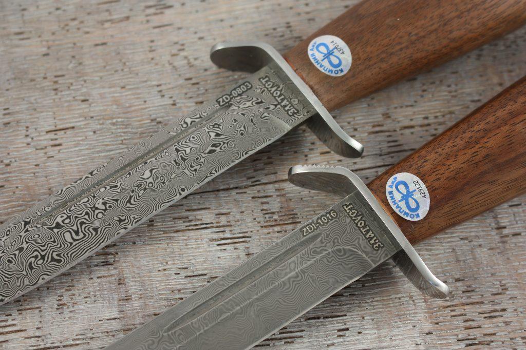 """Клинок из """"белого"""" дамаска нуждается в меньшей заботе, чем уход за ножом из """"черного"""" дамаска."""