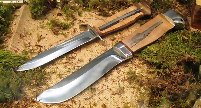 Нож «Бекас» в разрезе