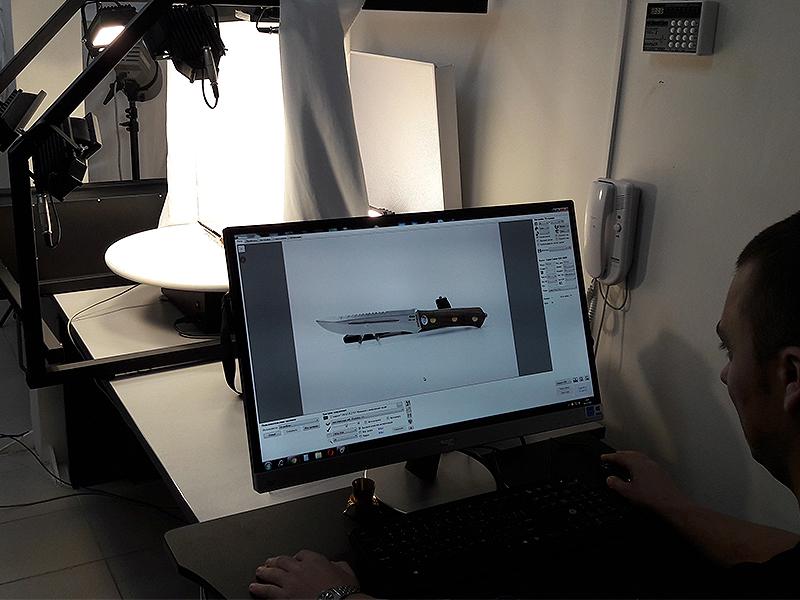 Фотосъемка ножей в интернет магазине