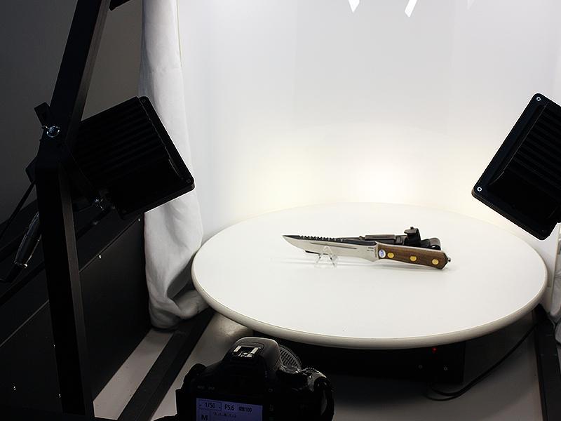 Фотосъемка ножа в 3D
