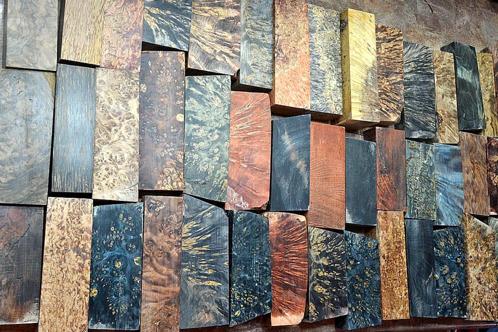 Примеры стабилизированной древесины