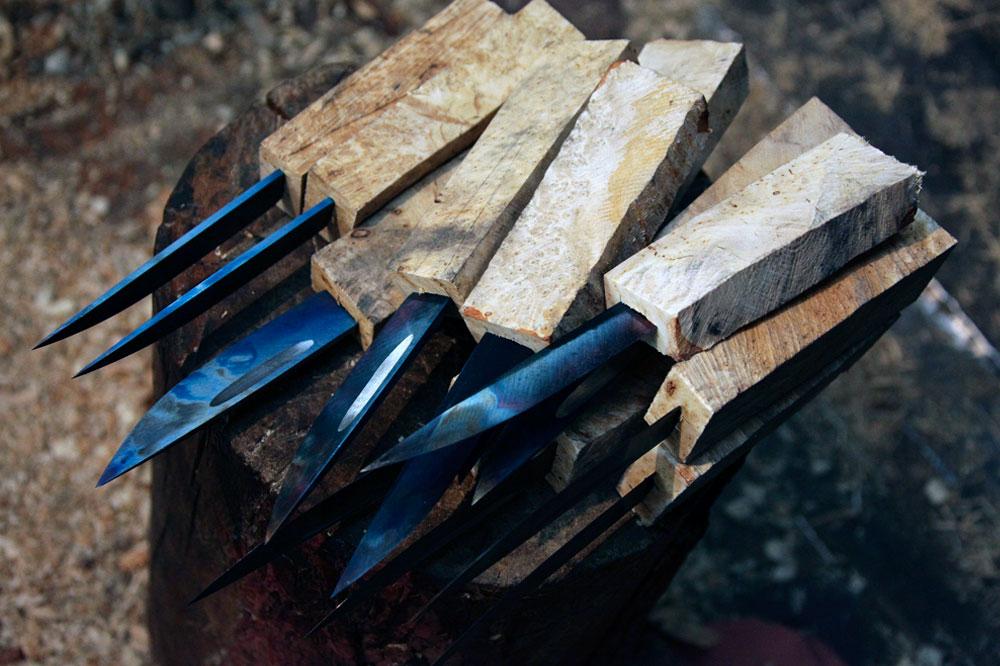 якутские ножи крепление клинка