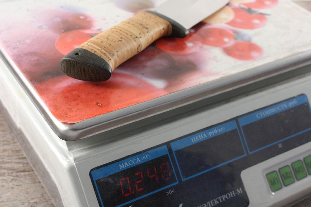 Нож «Толстяк» - вес ножа